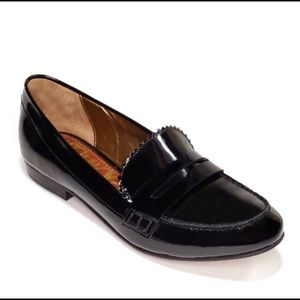 Sam Edelman black patent leather loafers, size 8.5